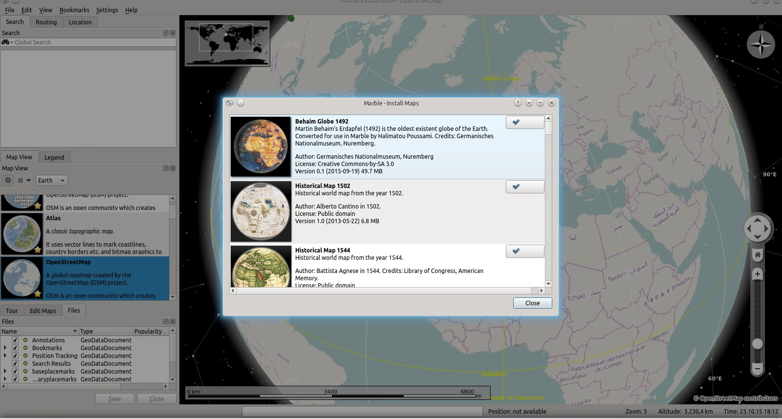 Google themes marble - Starting With The Next Marble Release Scheduled For December 2015 The Behaim Globe Map Theme Will Become A Regular Part Of The Map Themes That Are Shipped